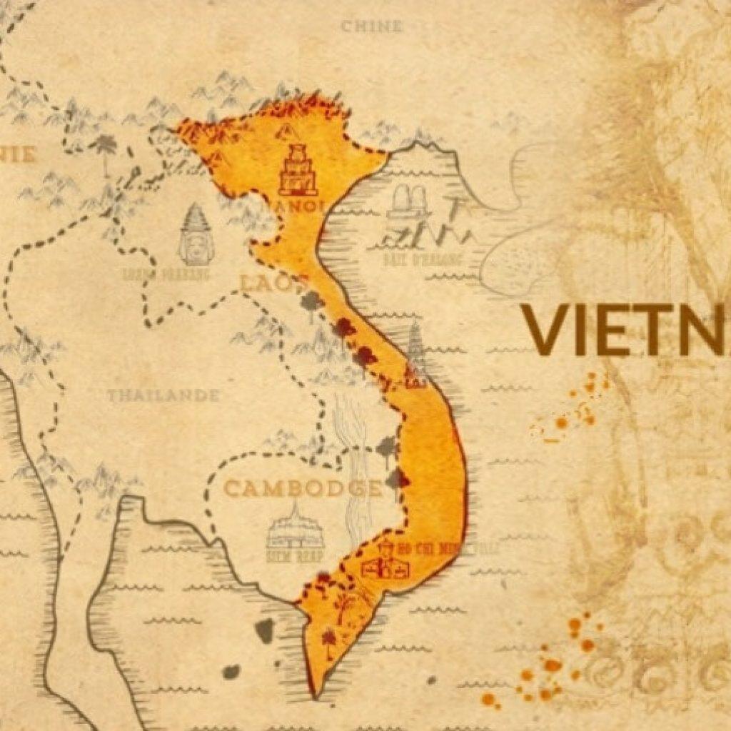 Carte ancienne du Vietnam