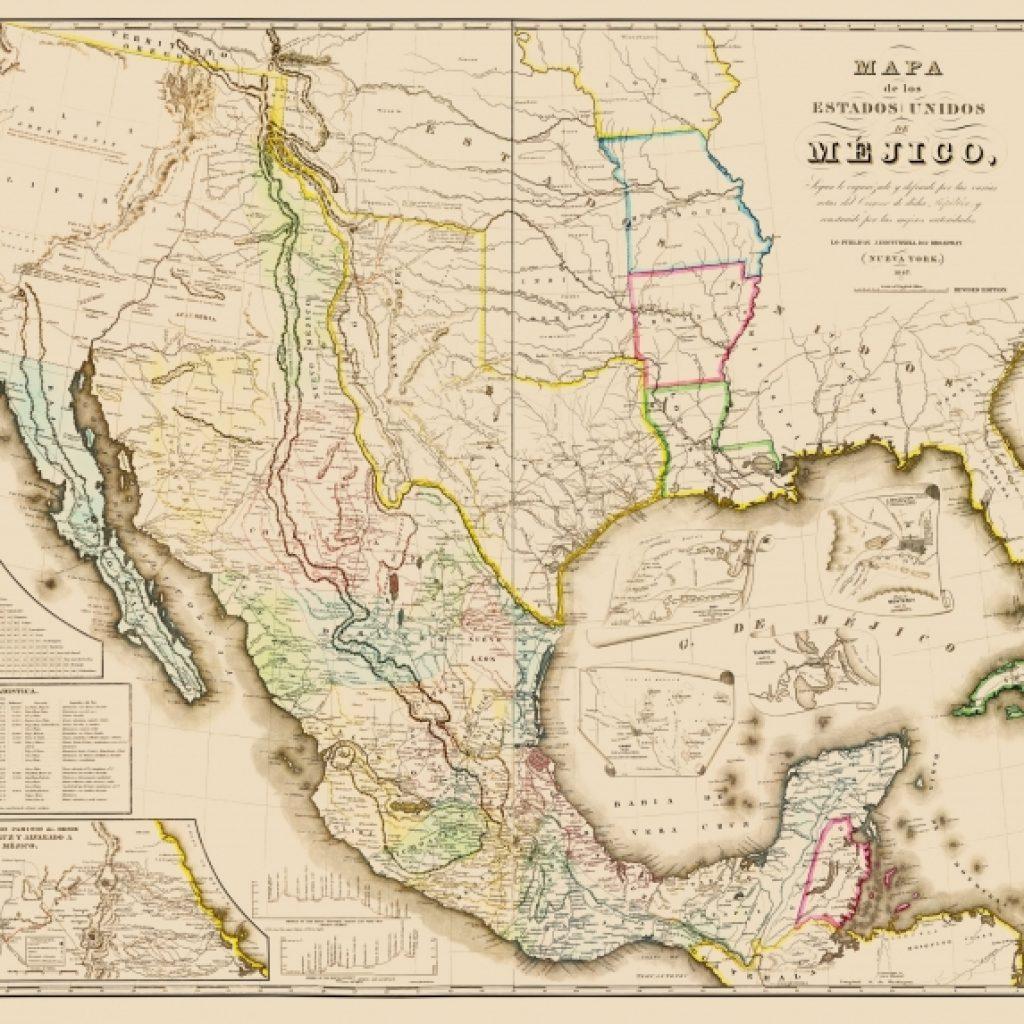Carte ancienne du Mexique