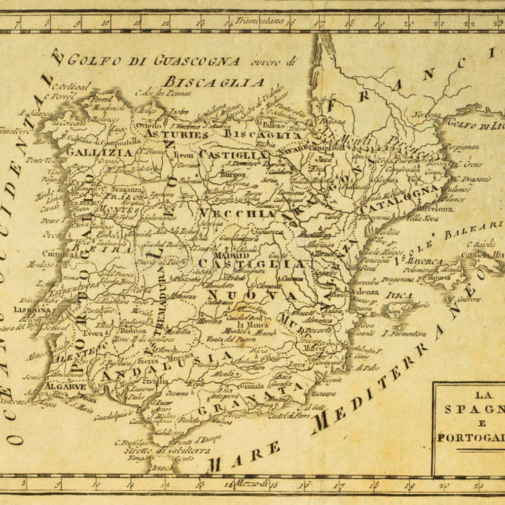 ancienne carte d'espagne